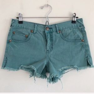 Free People Distressed Cutoff Shorts Size 27